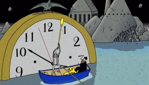 Kujira no Chouyaku Glassy Ocean Clock Windup Robot Gondolier Pterodactyl Water Old Man Boat
