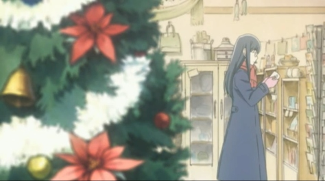 Sweet Blue Flowers Aoi Hana Fumi Manjoume Christmas Tree Decorated Shopping Store