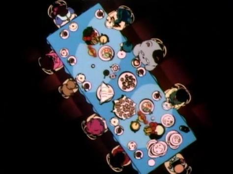Urusei Yatsura OVA Ryoko's September Tea Party Banquet Table Lum Shinobu Miyake Sakuranbou Jariten Ran Ryuunosuke Fujinami Ryoko Mendo