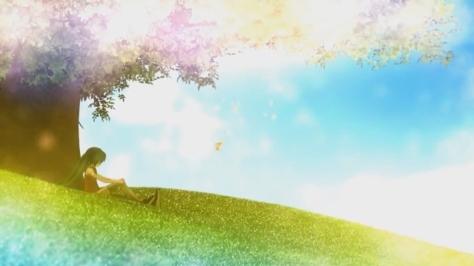 Chime Hatsune Miku Grassy Field Under A Tree Blue Sky Studio Deen Curl Flavor Gwave