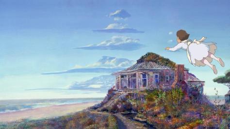 Iblard Time Iblard Jikan Girl White Dress Flying Over House By The Sea Beach Home Waves Clouds Naohisa Inoue