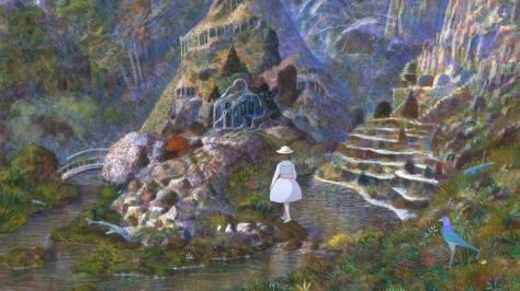 Iblard Time Iblard Jikan Girl White Dress Wooded River Stream Naohisa Inoue