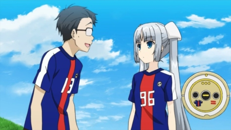 Miss Monochrome Supporter Ru-chan the Roomba Manager Maneo World Cup Japanese National Team Uniform Samurai Blue Promotional Video OVA