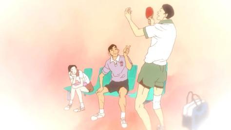 Ping Pong the Animation Obaba Tamura Jou Koizumi Kazama Poseidon CEO Younger Selves Old High School Days