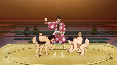 Rowdy Sumo Wrestler Matsutaro Abarenbou Rikishi!! Matsutarou Shin Tanaka Tanaka's First Victory Sumo Ring Squaring Off