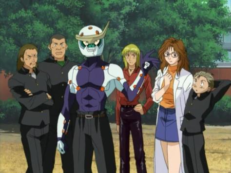 Sadamitsu The Destroyer Hakaima Sadamitsu Tsubaki Sadamitsu Junk Powered Armor Corpse Gang Miss Chieko Hisajin Toru Gominmaru