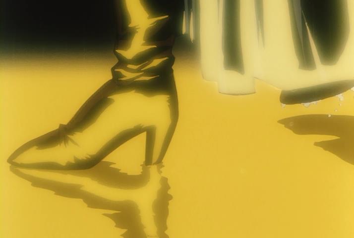 Twilight of the Dark Master Shihaisha no Tasogare Shizuka Tachibana Boots Heels Yellow Akiyuki Shinbo Style