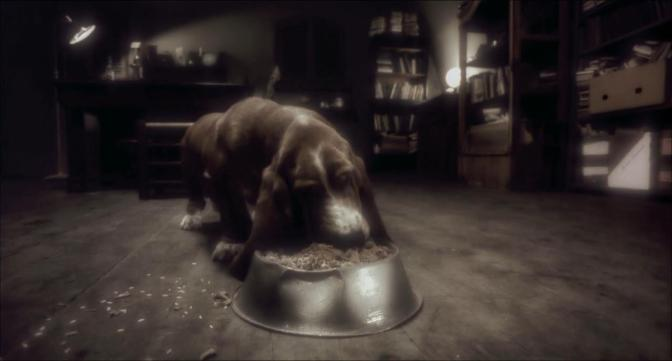 Avalon Beszamel as Ash's Dog Basset Hound Eating Bowl