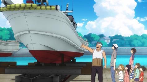 Barakamon Seishuu Handa Miwa Yamamura Naru Kotoishi Hina Kubota Kentarou Kenta Oohama Dock Pier I Alone Am Holy Boat