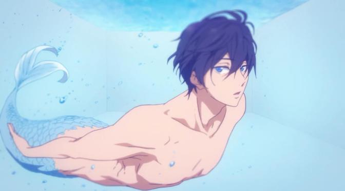 Free! Eternal Summer Haruka Nanase Merman Pool Swimming Eye Stare At The Camera