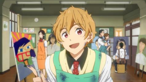 Free! Eternal Summer Nagisa Hazuki Art Class Apron Smock Brush Smile Paintings of Rei