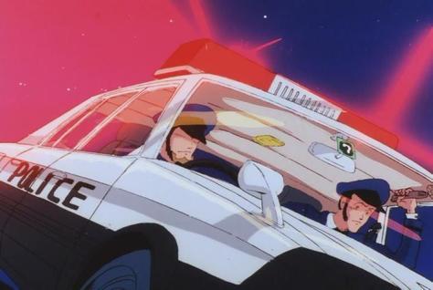Megazone 23 Part I Arsene Lupin III Daisuke Jigen Police Officer Cameo