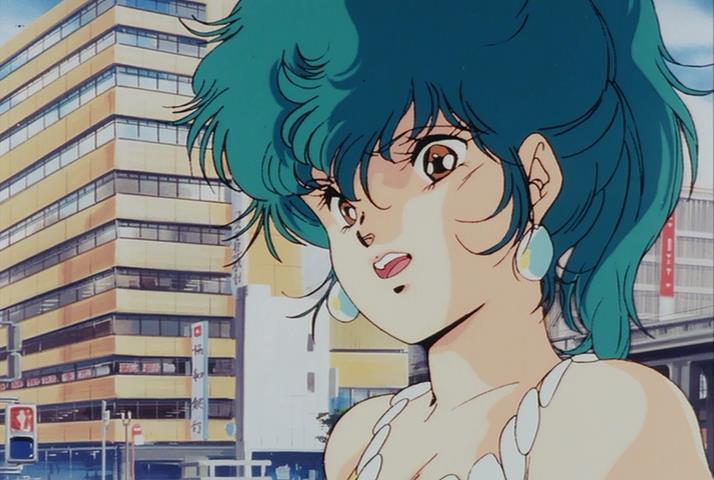 Megazone 23 Part I Yui Takanaka Toshiki Hirano Design Blue Green Hair Surprise