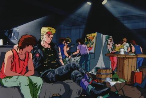 Megazone 23 Part II Shogo Yahagi Trash Motorcycle Gang Underground Punk Hangout Arcade