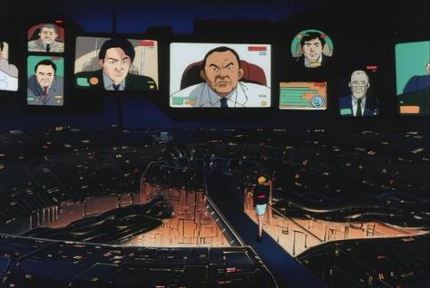 Megazone 23 Part III Yacob Halm Leaders Conference Computer Monitors