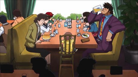 Rowdy Sumo Wrestler Matsutaro Abarenbou Rikishi!! Matsutarou Sakaguchi Matsutarou Family Parfaits Purple Suit Dragon Tie
