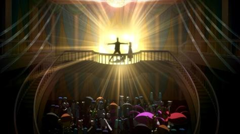 Space Dandy Season Two High School Prom Dance Balcony Stage Lights Pose