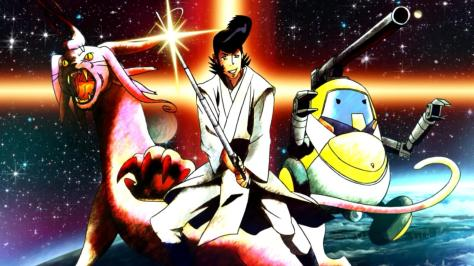Space Dandy Season Two Meow Mughi Dandy Jedi QT Ball Pulp Science Fiction Postcard