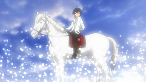 The World is Still Beautiful Soredemo Sekai wa Utsukushii Livius Orvinus Ifrikia Sun King On A White Horse With Blue Sky