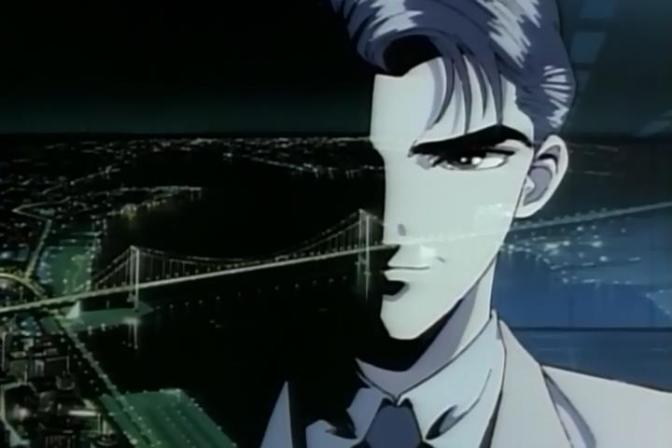 Tokyo Babylon Shinji Nagumo Smiling Face Tokyo Bridge Window Night City