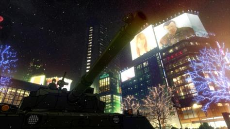 Tokyo ESP Christmas City Decorations Snow Tank Military