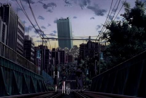 X The Movie X1999 Kamui Shiro Inuki Yuzuriha Nekoi Arashi Kishu Sunshine 60 Building Train Tracks