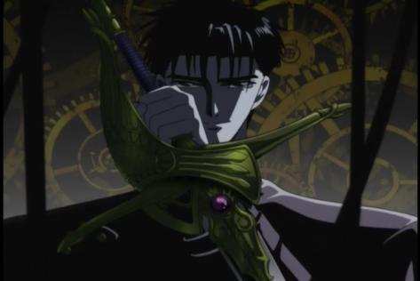 X TV Fuma Monou Sacred Sword Divine Sword Clocks Gears Glare Serious