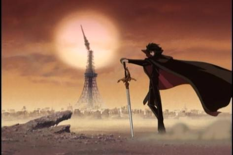 X TV Kamui Shiro Sacred Sword Divine Sword Tokyo Tower Apocalyptic Wasteland Snapping Sun Cape Intro