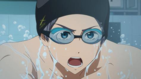 Free! Eternal Summer Aiichirou Nitori Swimming Closeup Goggles Splash