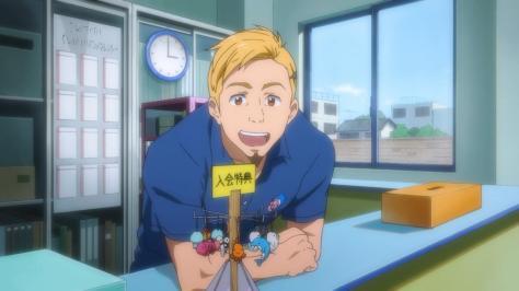 Free! Eternal Summer Gorou Sasabe Working Iwatobi Swim Club Desk New Member Bonus Dolphin Keychain