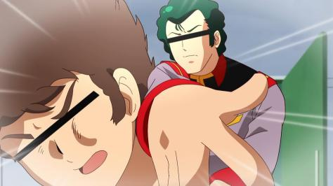 Mobile Suit Gundam-san  Kidou Senshi Gundam-san Bright Noa Slapping Amuro Ray Censor Bars Over Eyes
