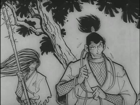 Ninja bugei-cho - Band of Ninja Manual of Ninja Martial Arts (1967, Nagisa Oshima) Sanpei Shirato Hotarubi Sakagami Shuzen Sakagami Tree Surprise