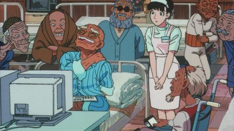 Roujin Z Haruko Mihashi Old Eldery Men Retirement Home Computer Hackers