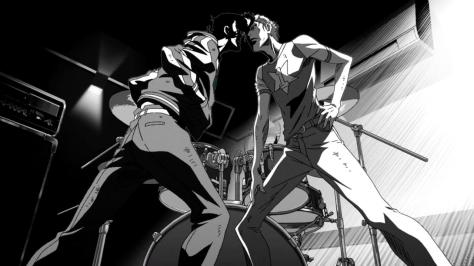 Space Dandy Season Two Black and White Johnny Dandy Fight Studio