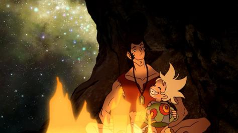 Space Dandy Season Two Dandy Erssime Planet Kayu Stars Camping Campfire