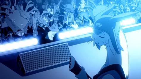 Space Dandy Season Two Meow Dropkix Bass Playing Concert Crowd Space Budokan