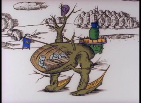 The Midnight Parasites Kiseichuu no Ichiya Yoji Kuri Tree Creature Canoe Feet Ent Humanoids Inside