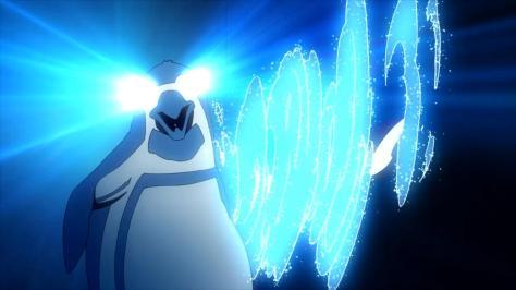Tokyo ESP Peggy The Penguin Blue Laser Superpower Eyes Summoning Shark