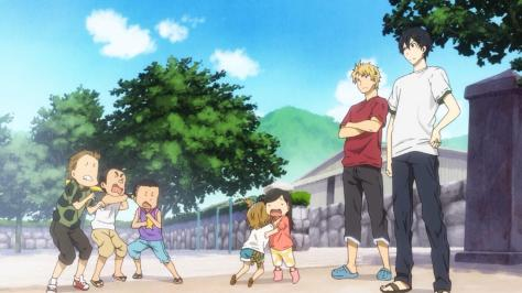 Barakamon Naru Kotoishi Hina Kubota Hiroshi Kido Seishuu Handa Bullies From Other Town Crying Playground