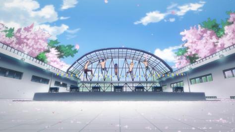 Free! Eternal Summer Haruka Nanase Rin Matsuoka Rei Ryuugazaki Makoto Tachibana Nagisa Hazuki Pool Of Cherry Blossoms Sakura Jump