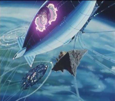 Lupin VIII  Pilot Episode Space Zeppelin Blimp Neon Sign Flying