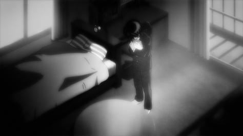Mysterious Girlfriend X Nazo no Kanojo X Akira Tsubaki Hugging Momoka Imai Photobook In Room Greyscale Sad
