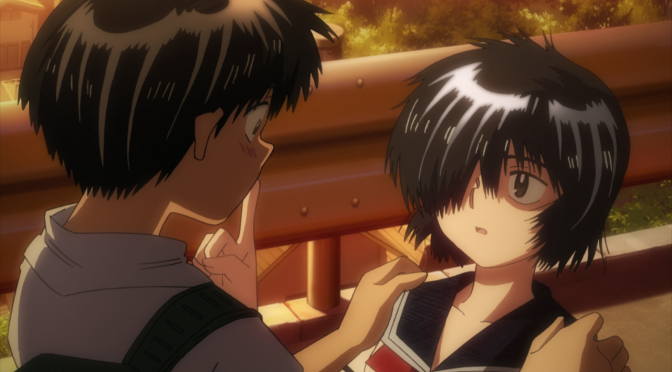Mysterious Girlfriend X Nazo no Kanojo X Akira Tsubaki Mikoto Urabe Finger On Mouth Stop Attempted Kiss