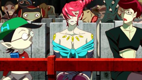 Space Dandy Season Two Rose Scarlett Hiroshi Courtroom Seats Surprise Shock