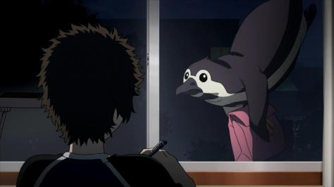 Tokyo ESP Peggy The Penguin Delivering Cookies And Letter To Ayumu Oozora Window