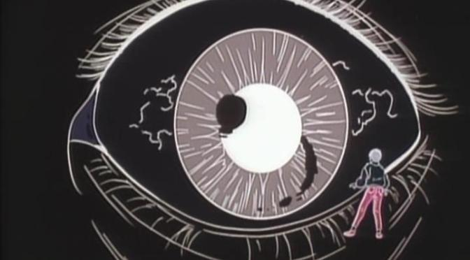 Dark Myth Ankoku Shinwa Takeshi Yamato Standing In Front Of Giant Eye Filter