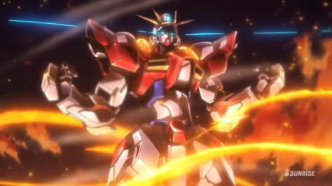 Gundam Build Fighters Try Build Burning Gundam Breaking Free Fire Inferno
