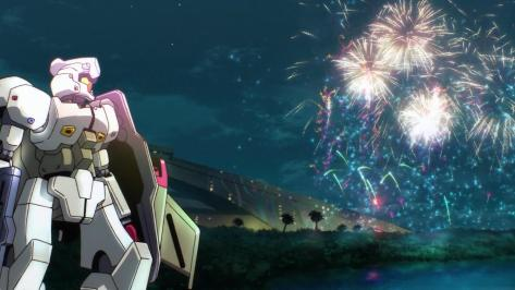 Gundam G no Reconguist Gundam Reconguista in G Catsith Fireworks Lake Night Sky