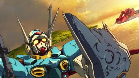 Gundam Reconguista in G Gundam G no Reconguista G-Self Shield Battle Damage Ocean