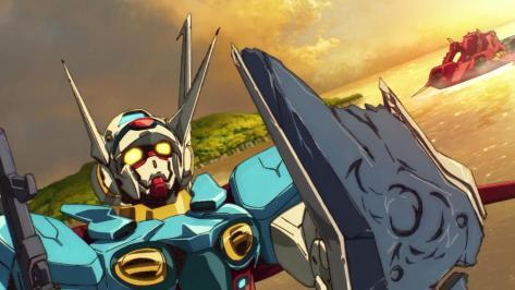 Gundam Reconguista in G Gundam G no Reconguista G-Self Shield Battle Damage Ocean